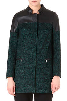 KAREN MILLEN Tweed pod coat