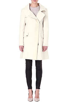 KAREN MILLEN Winter white cotton coat