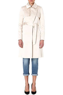 KAREN MILLEN Satin-mix trench coat