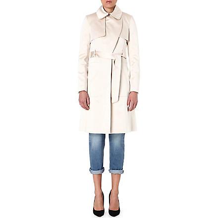 KAREN MILLEN Satin-mix trench coat (Champagne