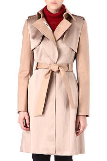 KAREN MILLEN Satin trench coat