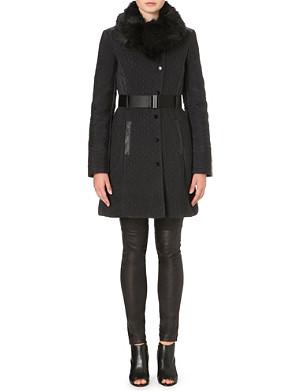 KAREN MILLEN Zigzag quilted coat