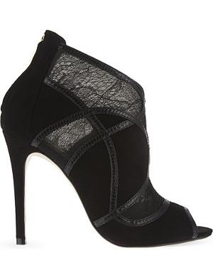 KAREN MILLEN Fx056 lace suede shoe boots