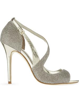 KAREN MILLEN Glitter open toe sandals