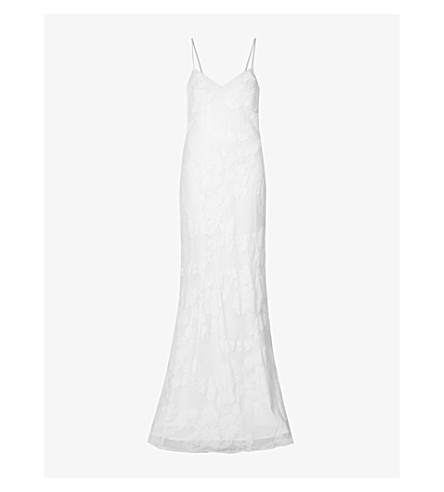 KAREN MILLEN Skinny stretch-denim leggings (Blue