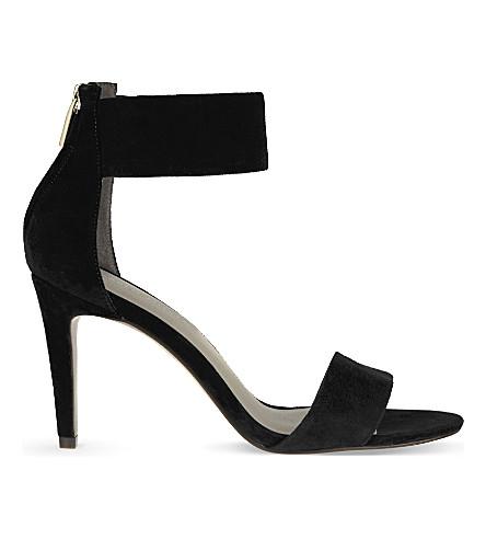 KAREN MILLEN FY768 suede heeled sandals (Black