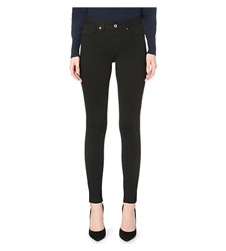 KAREN MILLEN Skinny stretch-denim jeans (Black