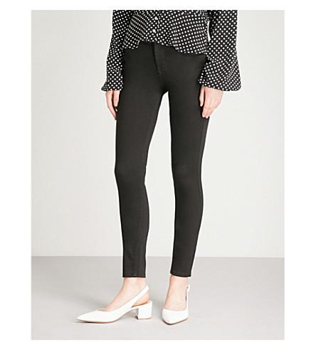 KAREN MILLEN Cropped skinny high-rise jeans (Black