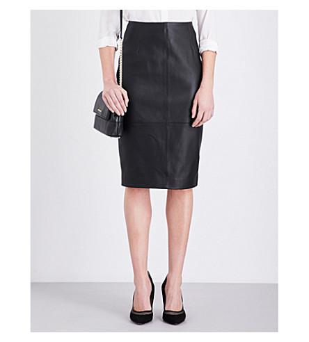 KAREN MILLEN Limited edition leather skirt (Black