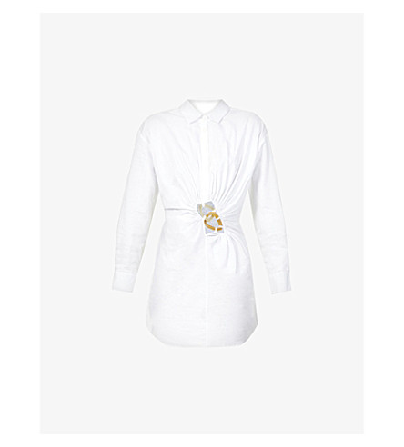 KAREN MILLEN Dark stretch-denim leggings (Navy