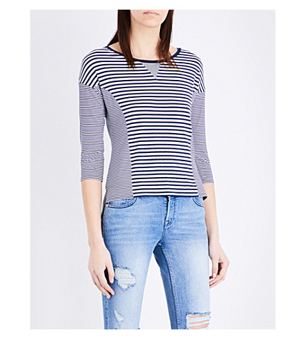 KAREN MILLEN Striped woven top (Multi-coloured