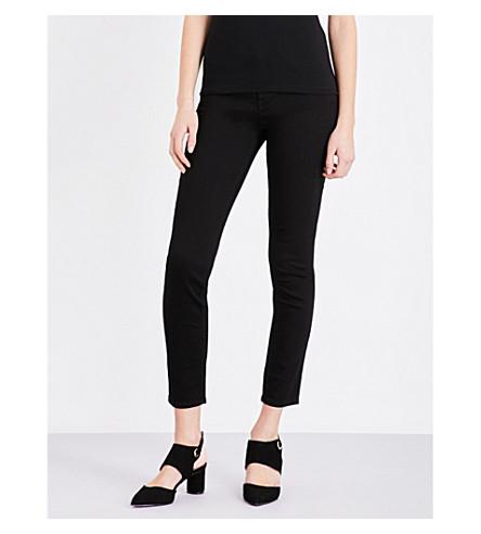 KAREN MILLEN Skinny high-rise jeans (Black