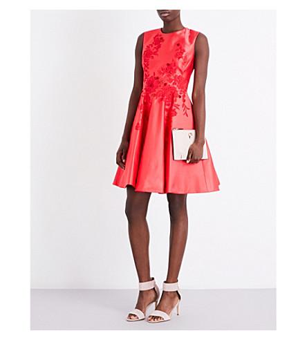 KAREN MILLEN Floral fit-and-flare dress (Pink