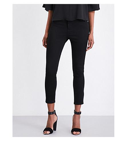 KAREN MILLEN Capri skinny stretch-denim jeans (Black
