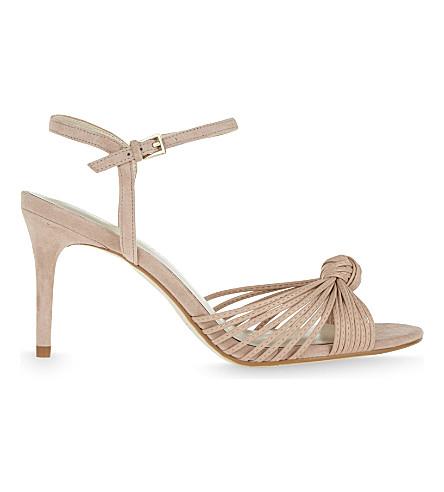 KAREN MILLEN Knot mid-heel sandals (Nude+(lingerie)