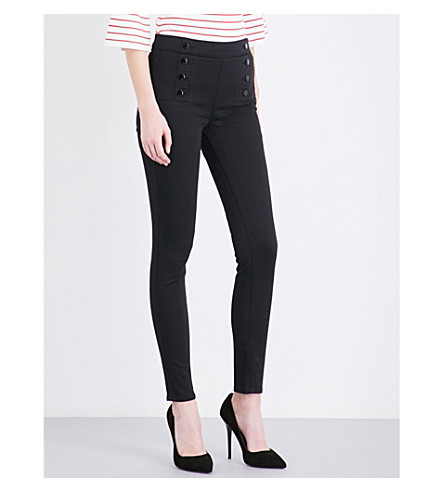 KAREN MILLEN Skinny high-rise stretch-denim leggings (Black