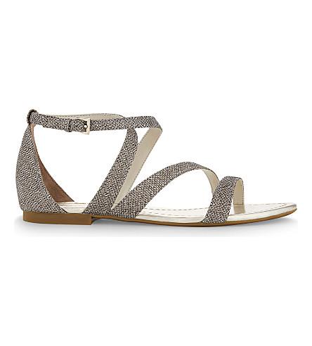 KAREN MILLEN Glitter strap flat sandals