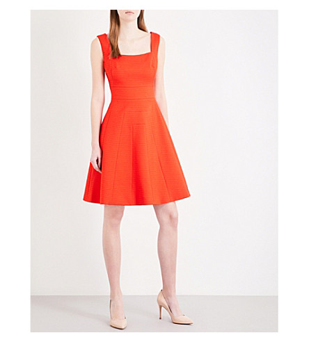 KAREN MILLEN A-line woven dress (Bright+orange