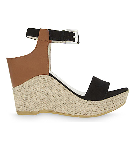 KAREN MILLEN Espadrille wedge sandals (Black