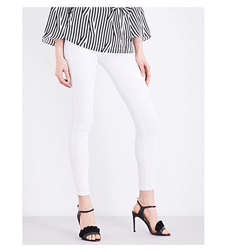 KAREN MILLEN Skinny high-rise jeans (White