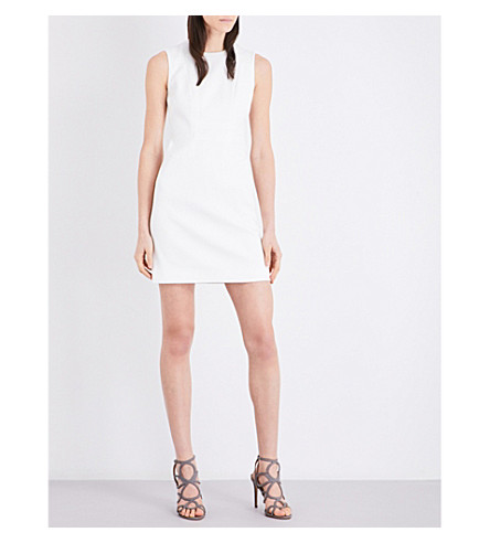 KAREN MILLEN Textured stretch-cotton dress (Cream