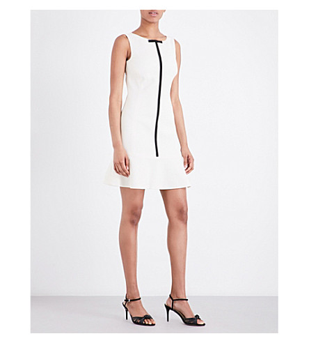 KAREN MILLEN Technique Texture woven dress (Cream