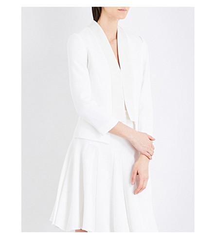 KAREN MILLEN Tailored crepe jacket (Cream
