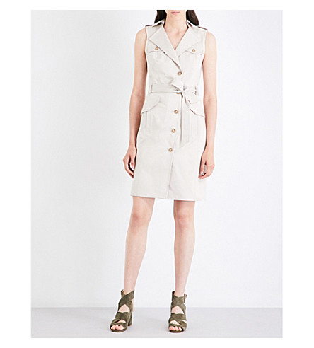 KAREN MILLEN Safari stretch-cotton dress (Cream