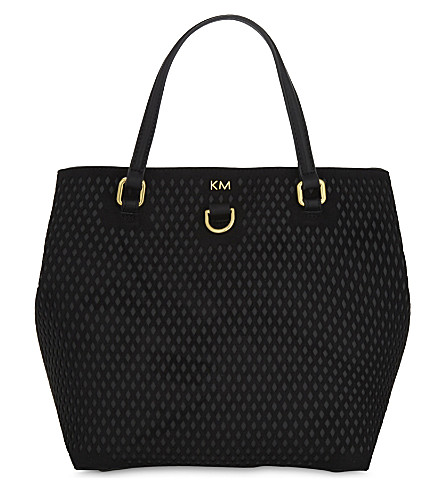 KAREN MILLEN Diamond detail bucket bag (Black