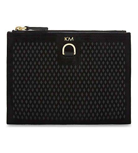 KAREN MILLEN Diamond cut pouch (Black