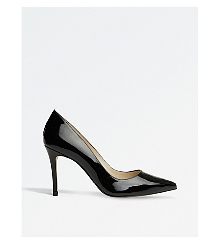KAREN MILLEN Patent-leather courts (Black