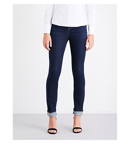 KAREN MILLEN Stud-detail skinny mid-rise jeans (Navy