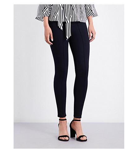 KAREN MILLEN Ankle grazer slim-fit mid-rise jeans (Blue