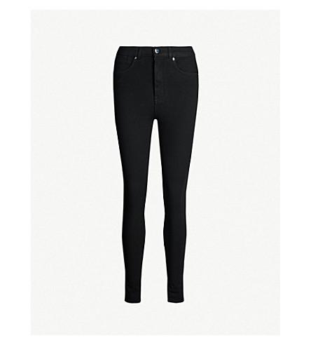 KAREN MILLEN Skinny mid-rise jeans (Black
