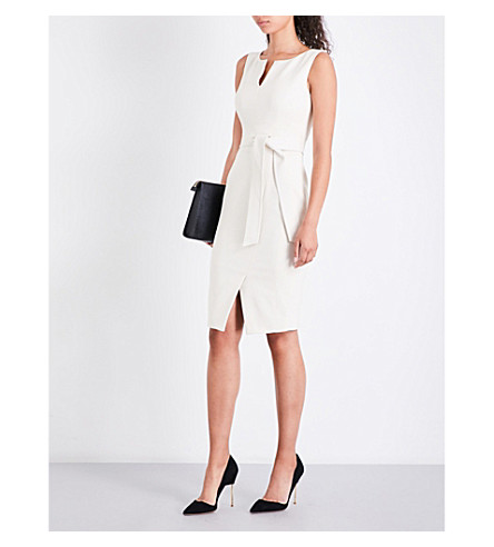 KAREN MILLEN Boat neck cotton-blend dress (Cream