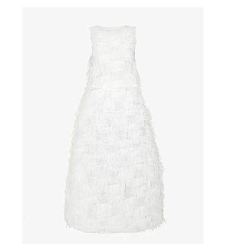 KAREN MILLEN Marl-pattern fine-knit cardigan (Multi-coloured