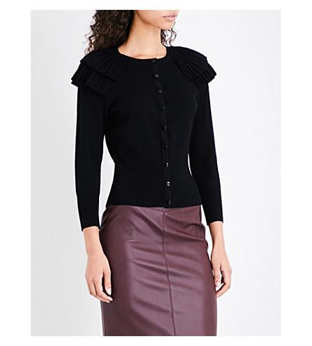 KAREN MILLEN Victoriana knitted cardigan (Black