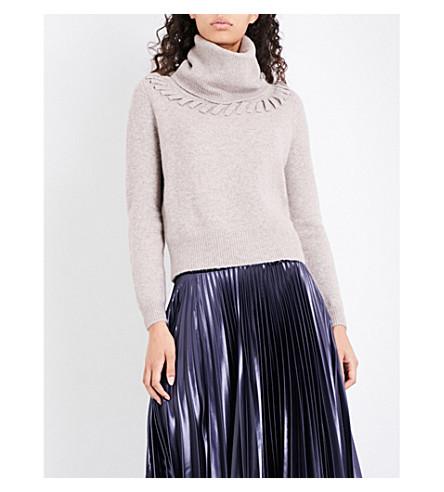 KAREN MILLEN Handwork wool-blend jumper (Cream