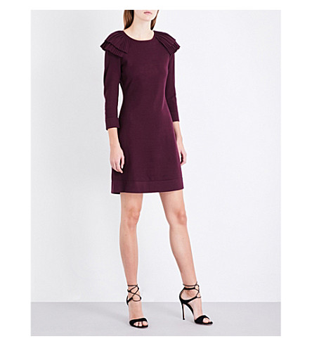 KAREN MILLEN Victoriana knitted dress (Purple