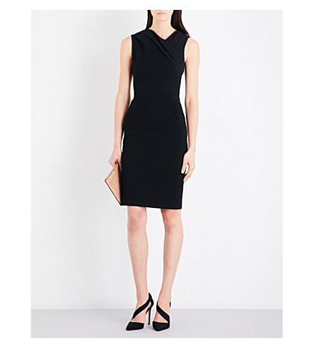 KAREN MILLEN Textured geometric pattern dress (Black