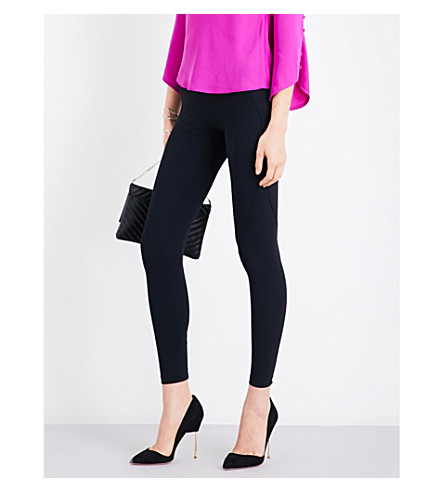 KAREN MILLEN High-rise technical jersey leggings (Black