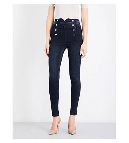 KAREN MILLEN Corset high-waist skinny jeans (Navy
