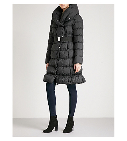 KAREN MILLEN Quilted shell down puffer coat (Black