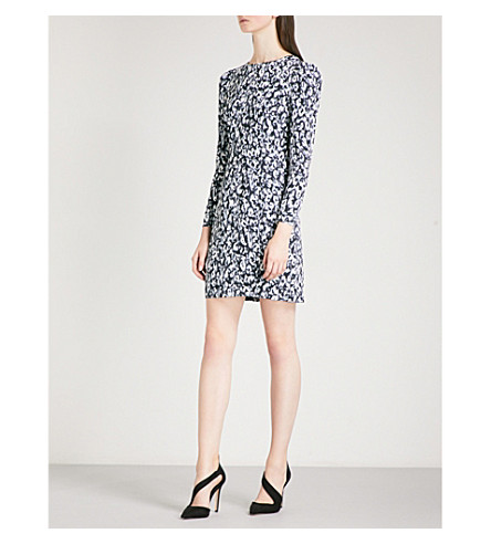 KAREN MILLEN Leopard-print woven pencil dress (Multi-coloured