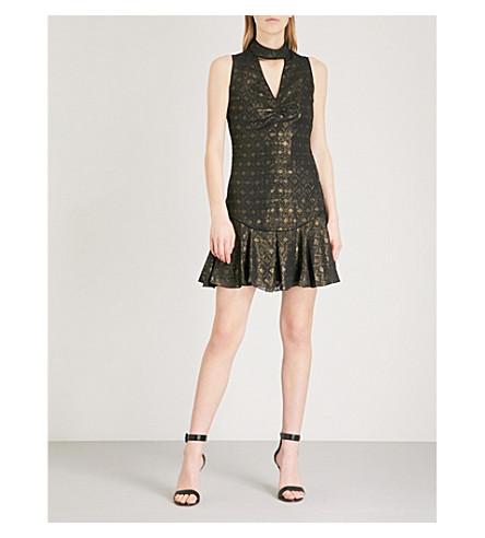 KAREN MILLEN Metallic jacquard pattern dress (Multi-coloured