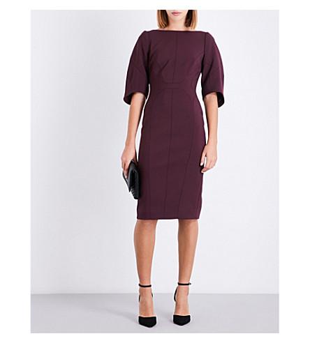 KAREN MILLEN Tailored-fit crepe dress (Purple
