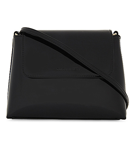 KAREN MILLEN Patent cross-body bag (Black