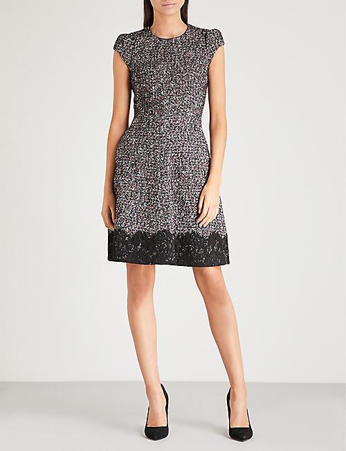 Karen millen black folded cocktail dress