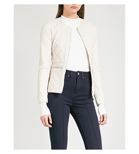 KAREN MILLEN Quilted shell jacket (Cream