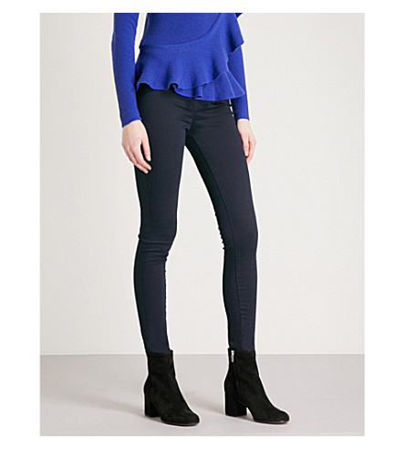 KAREN MILLEN Skinny high-rise stretch-denim leggings (Navy